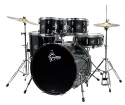 Gretsch RG-E625 Renegade Five-Piece Drum Kit with Hardware - Jet Black