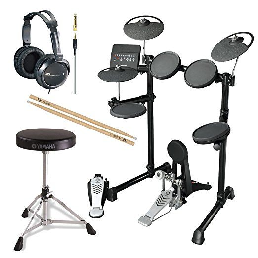 Yamaha10-Inch Electronic Drum Set with Drum Throne